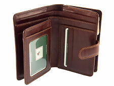 Leather Purse / Wallet by Visconti for Ladies Multi Compartment - Brown Mz11