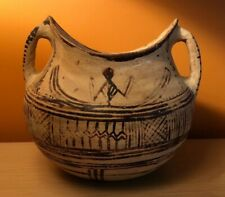 ANTIQUE Clay Bowl with Painting
