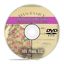 Michigan MI, People, Cities, Family History and Genealogy 31 Books DVD CD B07