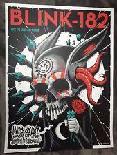 2017 Blink 182 Brandon Heart Art Kansas City Mo Silk Screened Poster