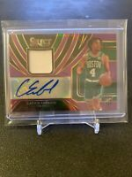 2019-20 Panini Select Carsen Edwards Rookie Patch Auto Refractor /99