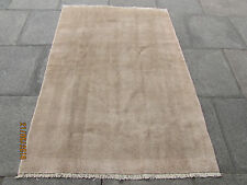 Old Traditional Hand Made Persian Oriental Gabbeh Rug Wool Brown Beige185x130cm