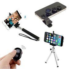 4 in1 Bluetooth +Selfie Stick Monopod + Tripod +Camera Lens For iPhone 5S 6 Plus