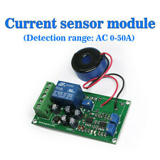 (US) Current Detect Sensor AC 0-50A Full Range Linear Adjustable Relay Output a