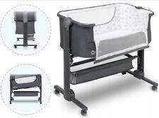 TIMON Lionelo 3w1 składane łóżeczko dostawne, przybornik, torba - graphite