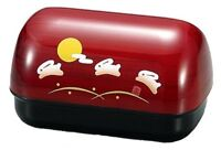 New BENTO Lunch Box Red Japanese OMUSUBI Sakura Keyaki Usagi Japan