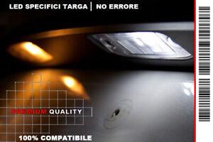 """COPPIA 2 LAMPADINE LED LUCI TARGA BIANCO GHIACCIO """"AUDI A3 (8P)"""" (2003-2012)"""