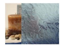 "Clear Rippled Glass, Blue Static Cling Window Film, 36"" Wide x 1 yd."