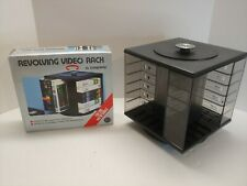 Longway Revolving Video Rack VHS and Betamax Vintage