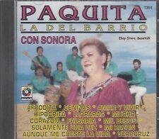 Paquita La Del Barrio Con Sonora CD New Nuevo Sealed