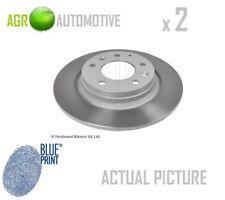 2 X Blau Print hinten BREMSSCHEIBEN SATZ BREMSEN Bremsscheiben Paar OE Ersatz ADM54360