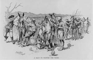 Photo:Drawing,Frederic Remington,1889-1906,US Cavalry scenes 2 9467