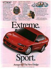 New listing 1999 VINTAGE PRINT AD - DODGE..DODGE AVENGER....EXTREME SPORT