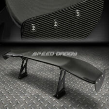 "REAL CARBON FIBER GT STYLE 69"" JDM RACING REAR/BACK TRUNK SPOILER/WING+BRACKETS"