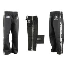 Krav Maga Black With 2 Camouflage Stripes Trousers Full Contact Training Pants