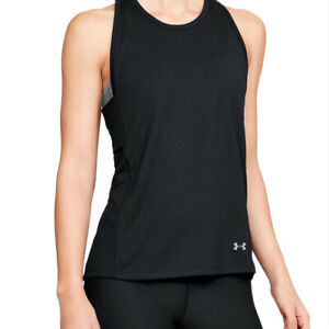 Under Armour UA Essential Banded Tk Graphic banded Ladies Black Running Vest