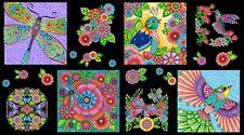 "Wilmington Prints Craft Panel Multi Rainbow Fight  44""x24"" 100% Quilting Cotton"