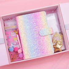 Sailor Moon Journal Book A5/A6 Student Notebook Gift Bag/Box Set Stickers Cards