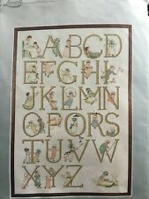 Cross Stitch Lanarte Vintage ABC Sampler Kit Kate Greenaway Timeless design.