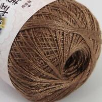 Vente en Coton Crochet Fil No.8 Craft Tatting Hand Knit Broderie 50 GRX 1 Ball 24