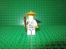 LEGO Ninjago SENSEI WU MINIFIGURE Dragon Pattern Gi Pearl Gold Hat Staff