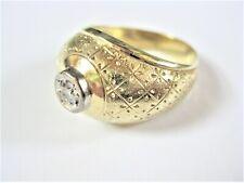 Ring Gold 585 mit Brillant, 6,05 g