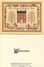 VINTAGE AUTUMN SEASON SQUIRREL HOUSE OCTOBER COZY QUAINT MOTTO 1 CHRISTMAS CARD
