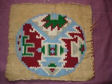 #901  Beautiful Vintage Hand Emoidered Tapestry  36cm/33cm(14''x13'')