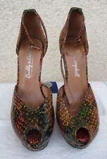 Jeffrey Campbell Platform Shoes Size 5 Brown Animal Print Peep Toe