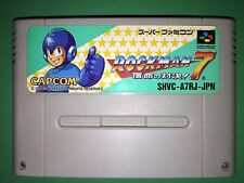 ROCKMAN 7 MEGAMAN VII  Super Famicom Nintendo Game SNES SFC Japan FREE Shipping