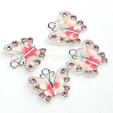 New Lots 5/10pcs Enamel Animal Butterfly Pendant Charms Jewelry Findings DIY