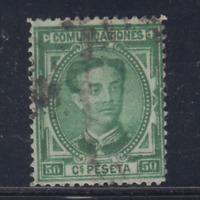 ESPAÑA (1876) USADO SPAIN - EDIFIL 179 (50 cts) ALFONSO XII - LOTE 4
