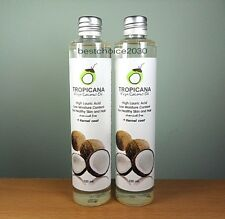 2 x 100 ML NEW TROPICANA VIRGIN COLD PRESSED COCONUT OIL FOR DRINK, HAIR & SKIN