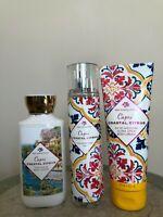 Bath & Body Works Capri Coastal Citrus Fragrance Mist Body Cream Body Lotion NEW