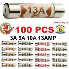 100pcs 13A Domestic Fuses Plug Top Household Mains 13amp Cartridge Fuse UK Stock