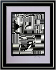 Victor Vasarely Authentic Original Color Silkscreen Hand Signed Op Illusion Art
