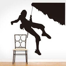 Extreme Sports Home Decor Rock Climber Climbing Silhouette Wall Stickers