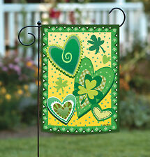 Toland Heart O' The Irish 12.5 x 18 St Patrick's Day Shamrock Clover Garden Flag