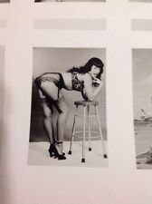 Bettie Page By Bunny Yeager Original Promo Sheet Signed Pin Up Photo 6 Models!