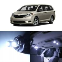 19 x White LED Interior Lights Package For 2011 - 2018 Toyota Sienna + PRY TOOL
