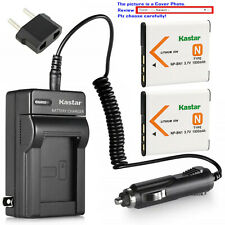 Kastar Battery Travel Charger for Sony NP-BN1 BC-CSN & Sony Cyber-shot DSC-W350