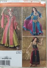 SIMPLICITY 2159 LADIES GYPSY BELLY DANCE COSTUME DRESS PATTERN 14-22 NEW UNCUT