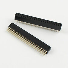 5Pcs 2 mm 2.0 mm pitch 1x40 pin 40 Pin Single Row Right Angle Female Header Strip