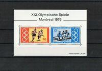 BRD - Block 12  XXI. Olympische Spiele Montreal 1976 - Postfrisch