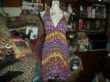 FOREVER 21 Sweet Purple Floral Crochet Dress Size L