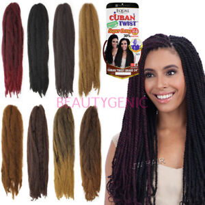 Freetress Cuban Twist 24 Inches Braid braiding hair synthetic Hair bulk Crochet