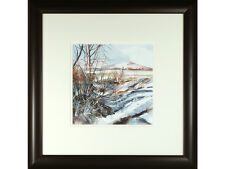 Christine O'Keeffe, original pen & watercolour - 'Snow On The Struie'. Scottish