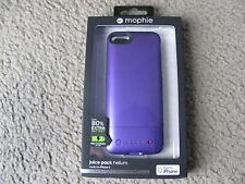 Mophie Juice Pack Helium Case and Rechargeable Battery for iPhone 5 & 5S Purple