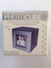 Silver PHOTOCUBE Color Digital Photo Frame