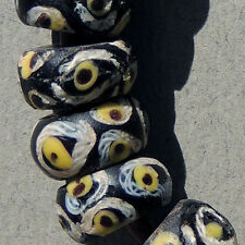 20 old antique venetian small fancy beads african trade #411
